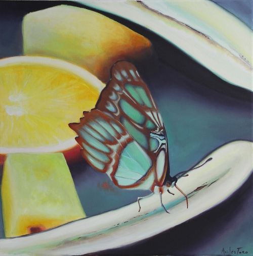 Mariposa en fruta