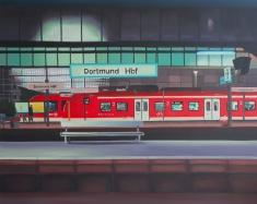 """Bahnhof"", 80 x 100 cm"