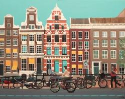 """Amsterdam"", acrylic on canvas, 80 x 100 cm"