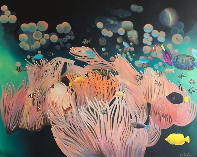 """Anemone"", 80 x 100 cm, € 800 - no longer available"