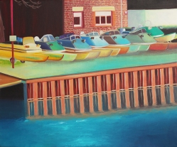 """""""Kanal"""", acrylic on canvas, 50 x 60 cm"""
