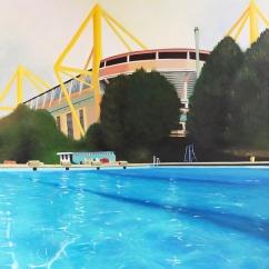 """""""Swim"""", 100 x 80 cm,"""
