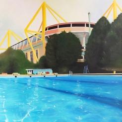 """""""Swim"""", 100 x 80 cm -- €650"""