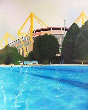 """Swim"", acrylic on canvas, 100 x 80 cm"