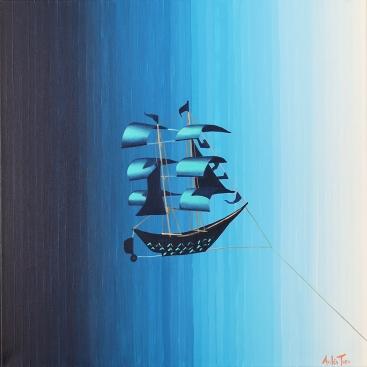 """""""Navegando todos los cielos"""", acrylic on canvas, 50 x 50 cm - no longer available"""