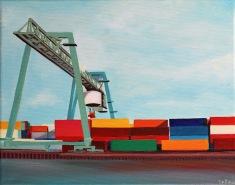 """""""Hafen I"""", 24 x 30 cm -- €180"""