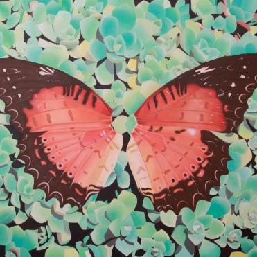 """Nymphalidae"", 80 x 100 cm"